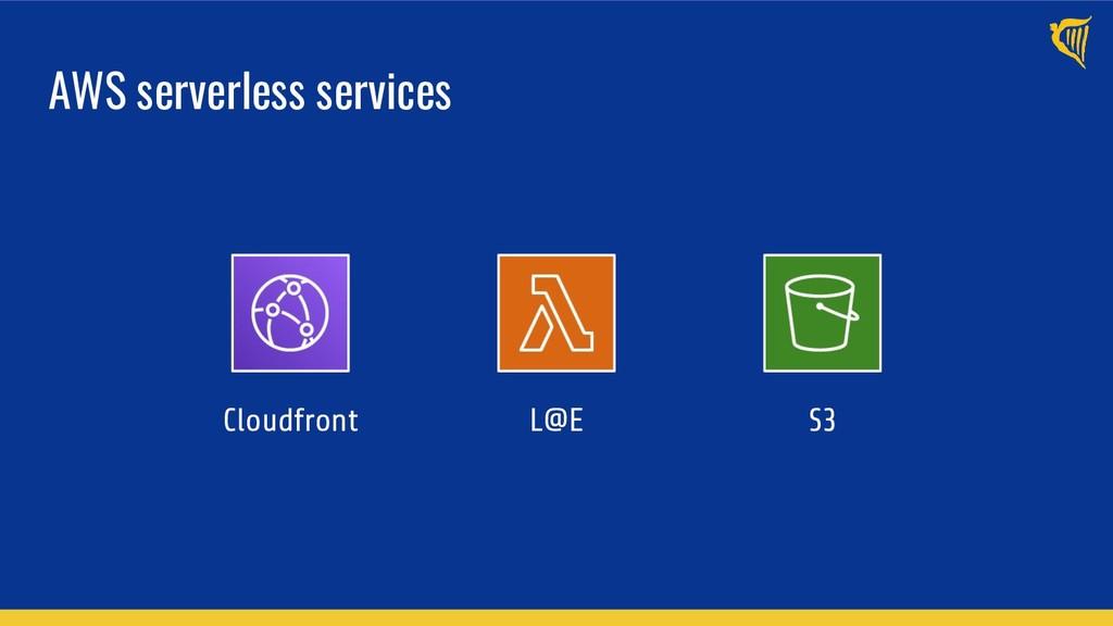 AWS serverless services Cloudfront L@E S3