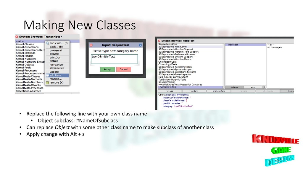 Making New Classes • Replace the following line...