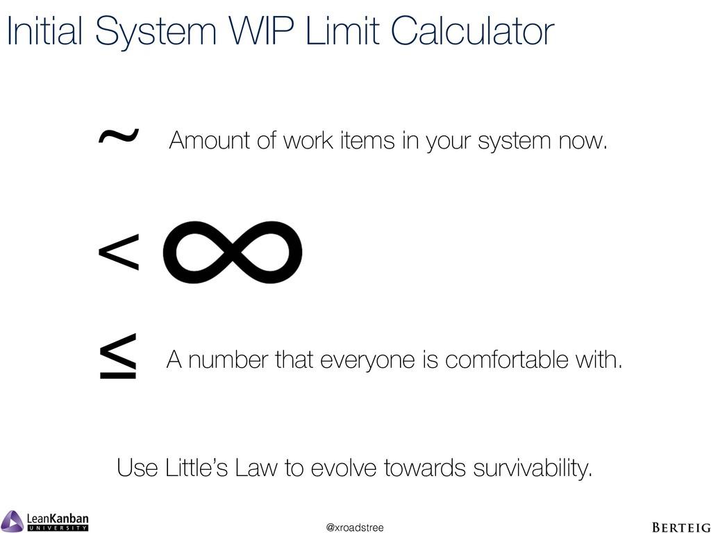@xroadstree Initial System WIP Limit Calculator...