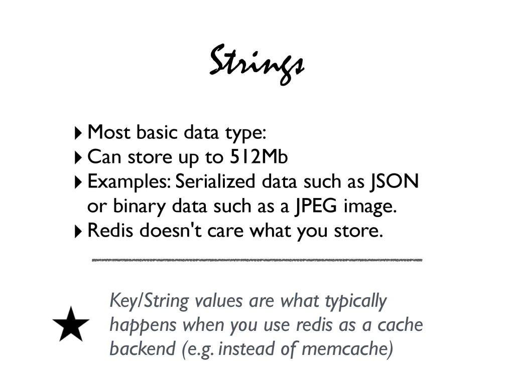 Strings ‣Most basic data type: ‣Can store up to...