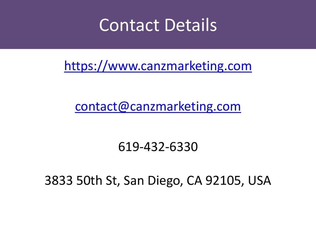Contact Details https://www.canzmarketing.com c...
