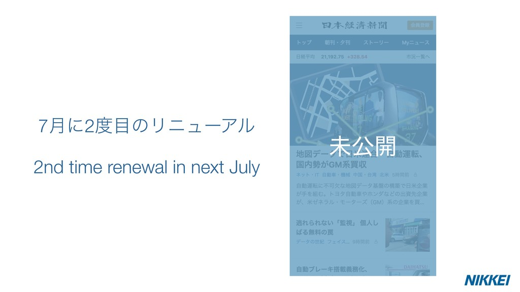 7݄ʹ2౓໨ͷϦχϡʔΞϧ