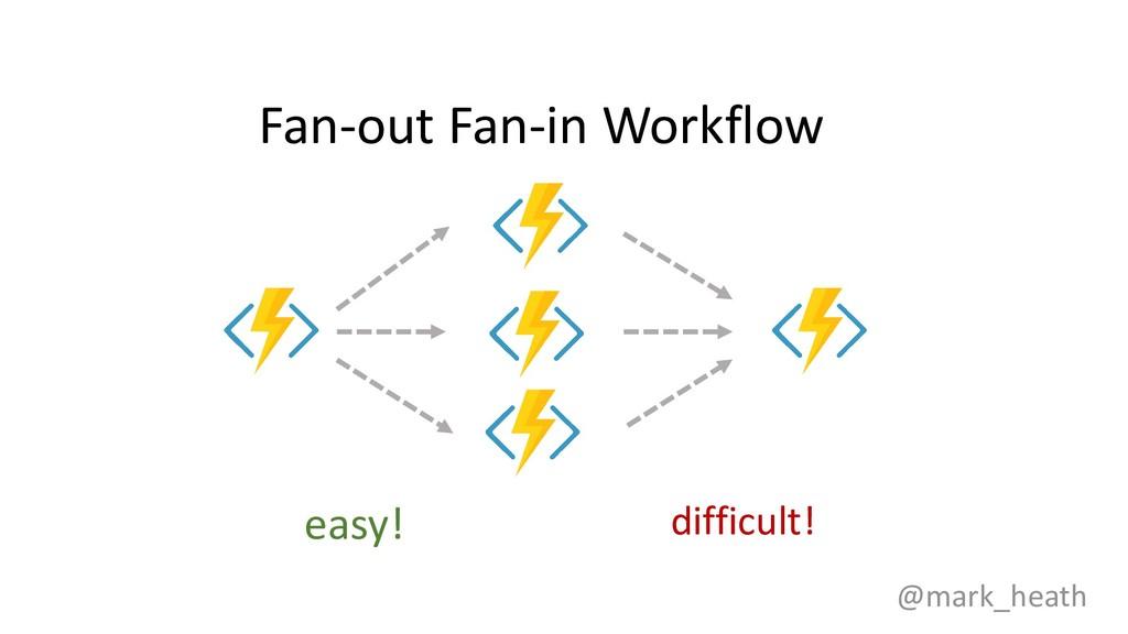 Fan-out Fan-in Workflow @mark_heath easy! diffi...