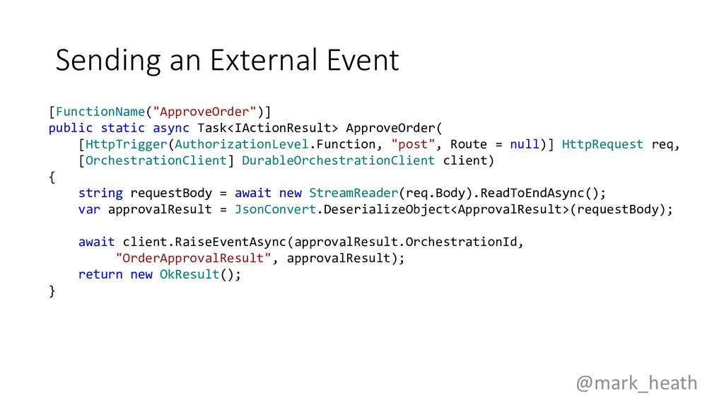 """Sending an External Event [FunctionName(""""Approv..."""