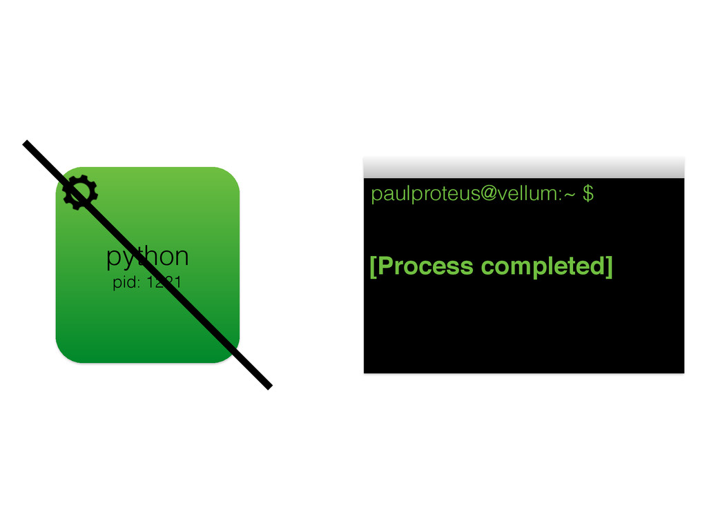 python pid: 1221 paulproteus@vellum:~ $ [Proces...