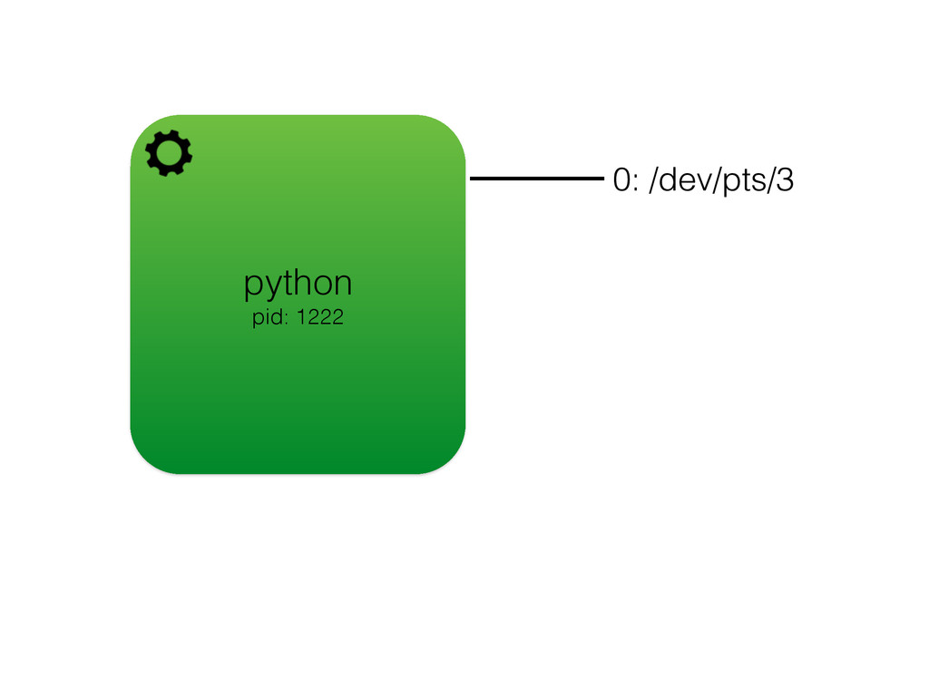 python pid: 1222 0: /dev/pts/3