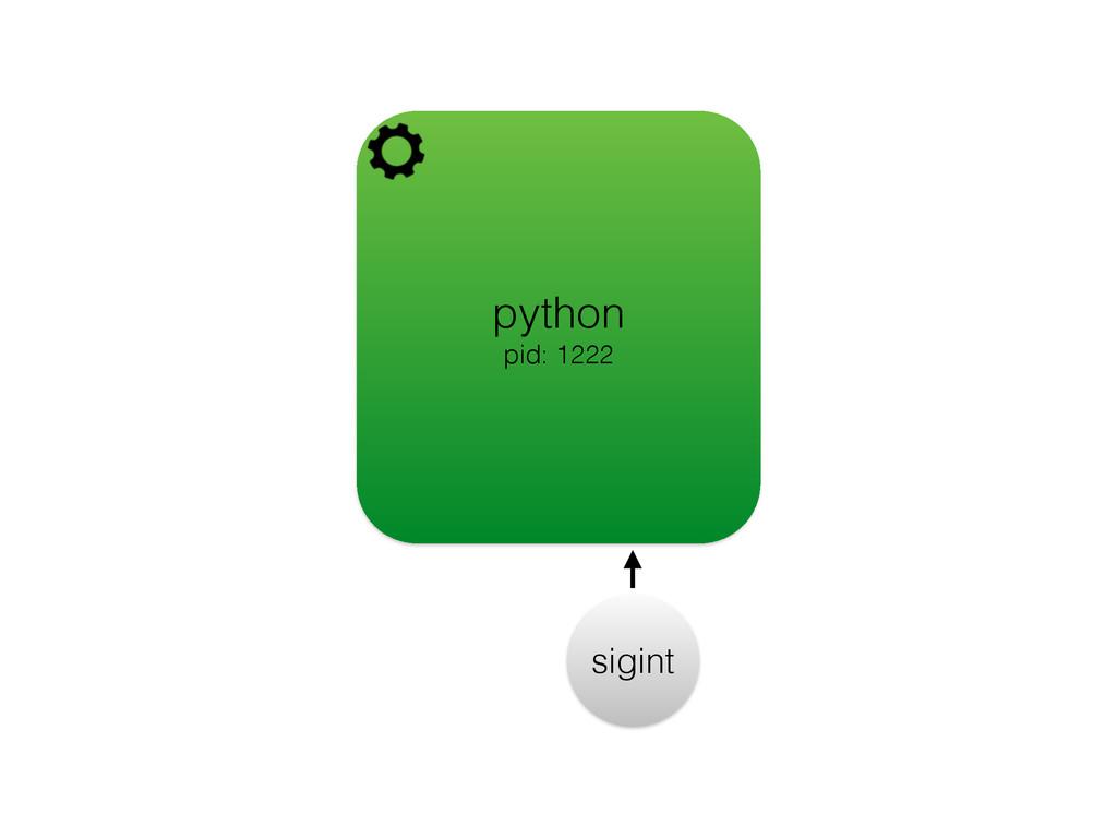 python pid: 1222 sigint