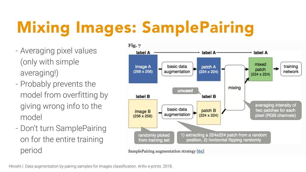 Mixing Images: SamplePairing - Averaging pixel ...