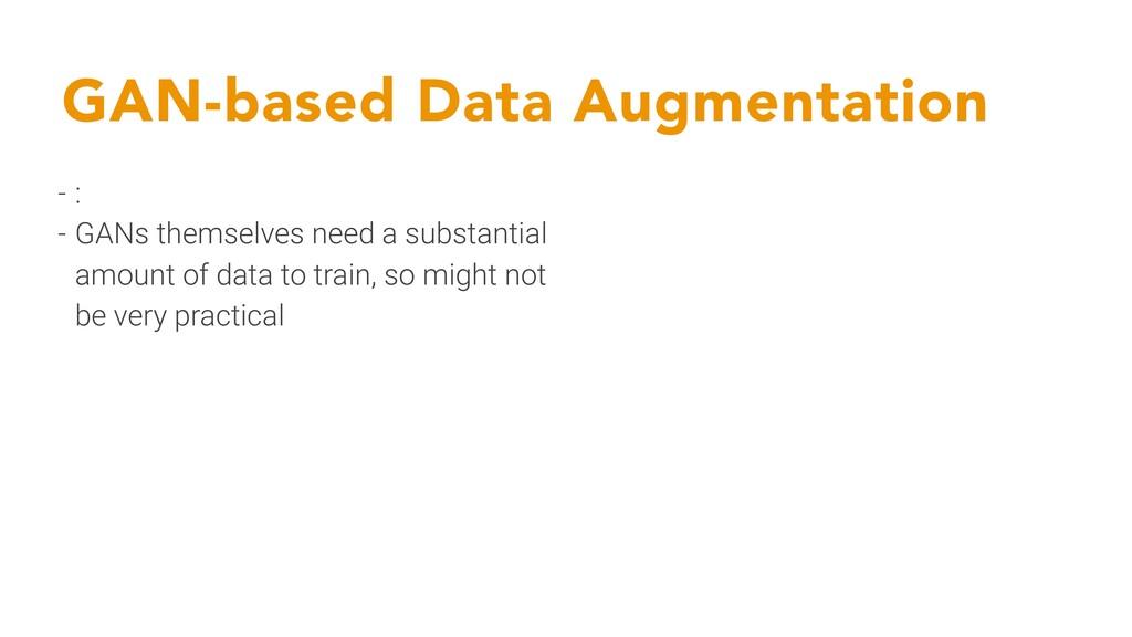 GAN-based Data Augmentation - : - GANs themselv...