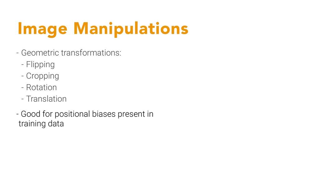 Image Manipulations - Geometric transformations...