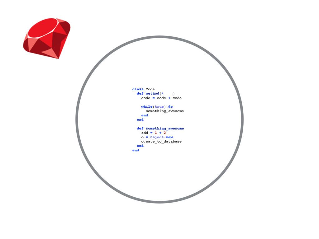 class Code def method(*args) code = code + code...