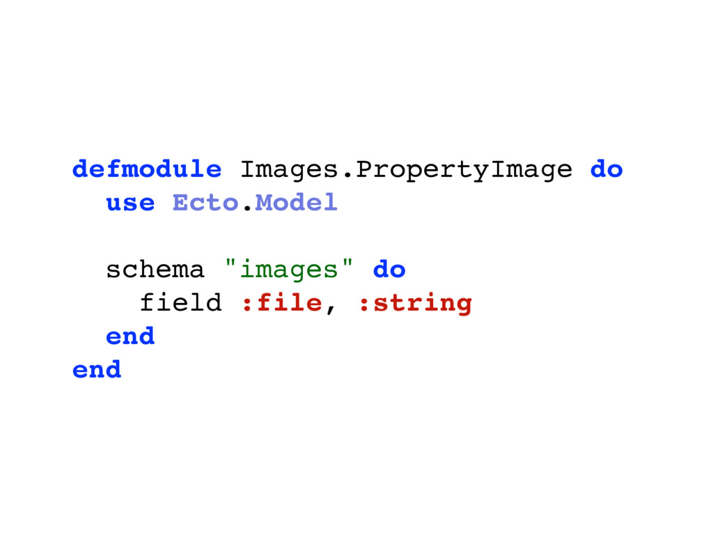 defmodule Images.PropertyImage do use Ecto.Mode...