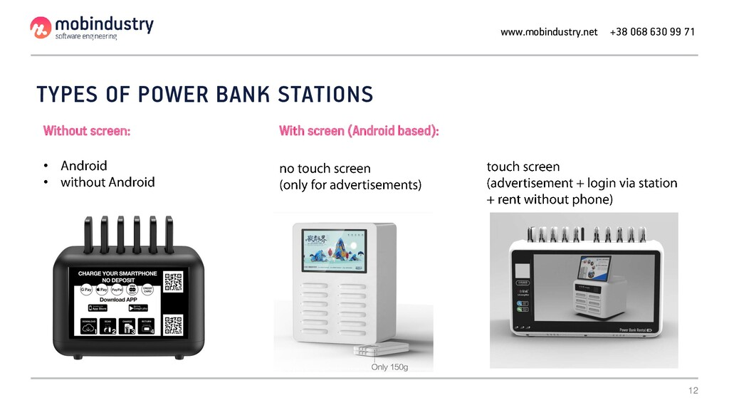 12 TYPES OF POWER BANK STATIONS With screen (An...