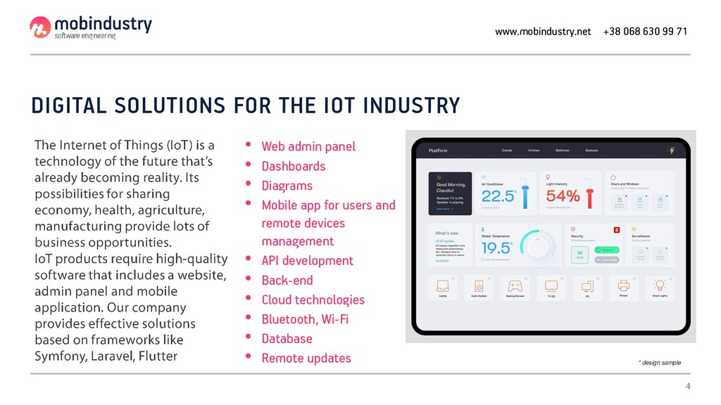 DIGITAL SOLUTIONS FOR THE IOT INDUSTRY • Web ad...