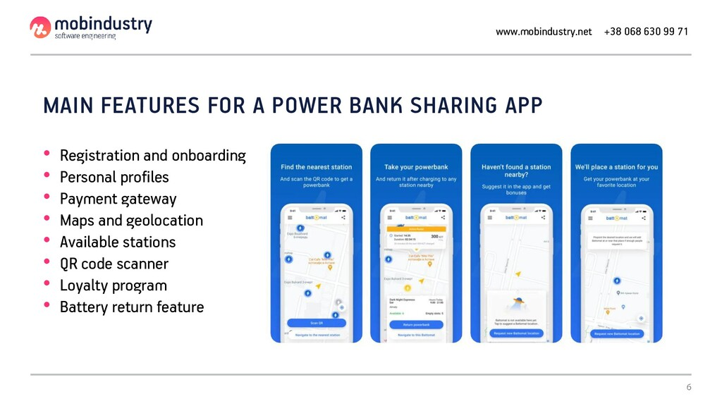 MAIN FEATURES FOR A POWER BANK SHARING APP • Re...