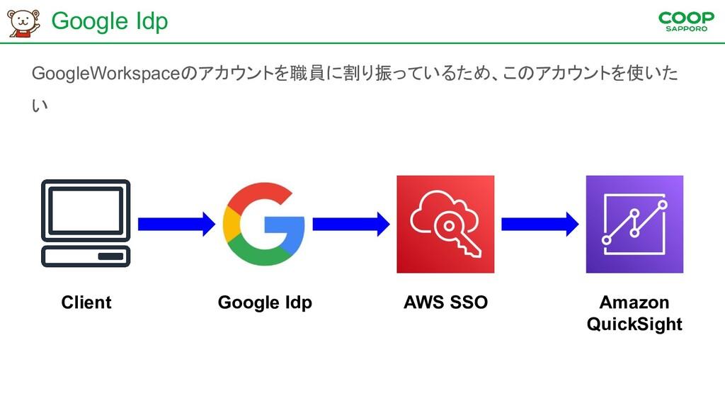 Google Idp GoogleWorkspaceのアカウントを職員に割り振っているため、こ...