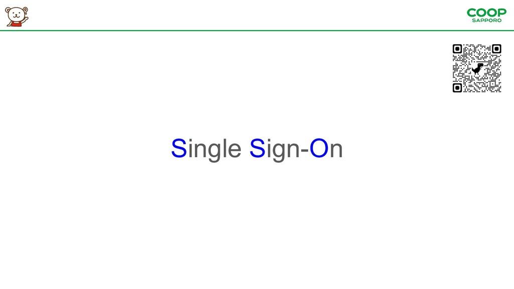 Single Sign-On