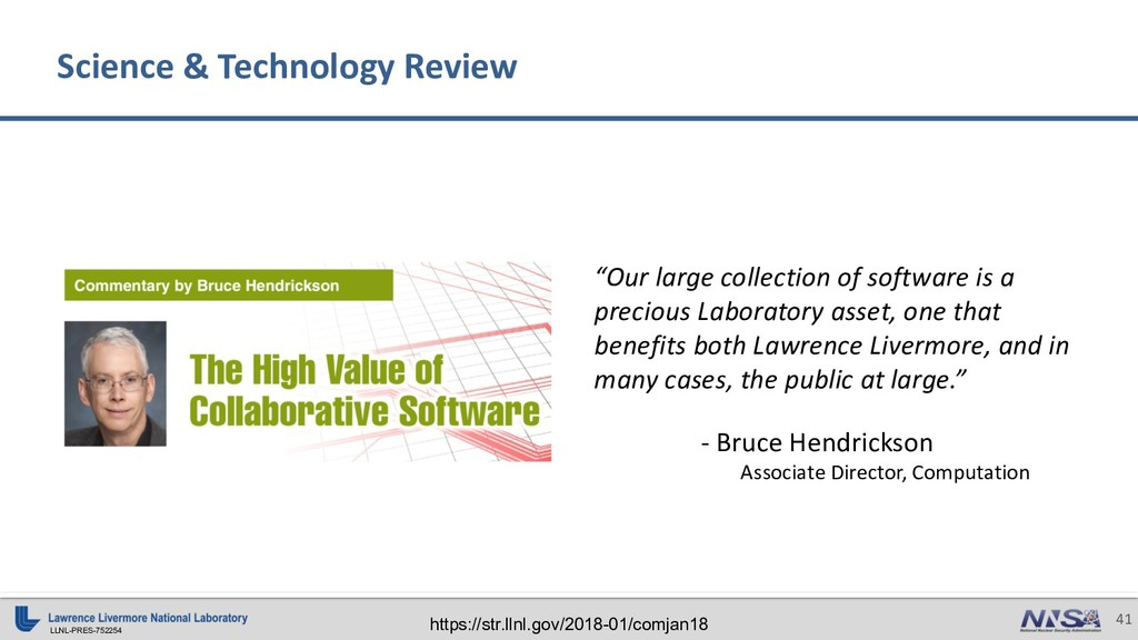 LLNL-PRES-752254 41 Science & Technology Review...