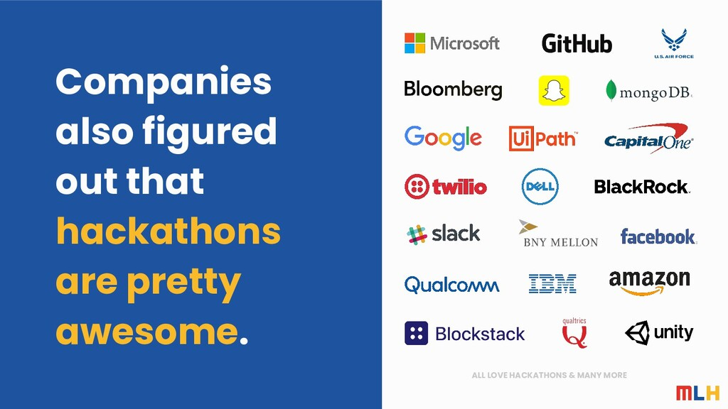 ALL LOVE HACKATHONS & MANY MORE Companies also ...