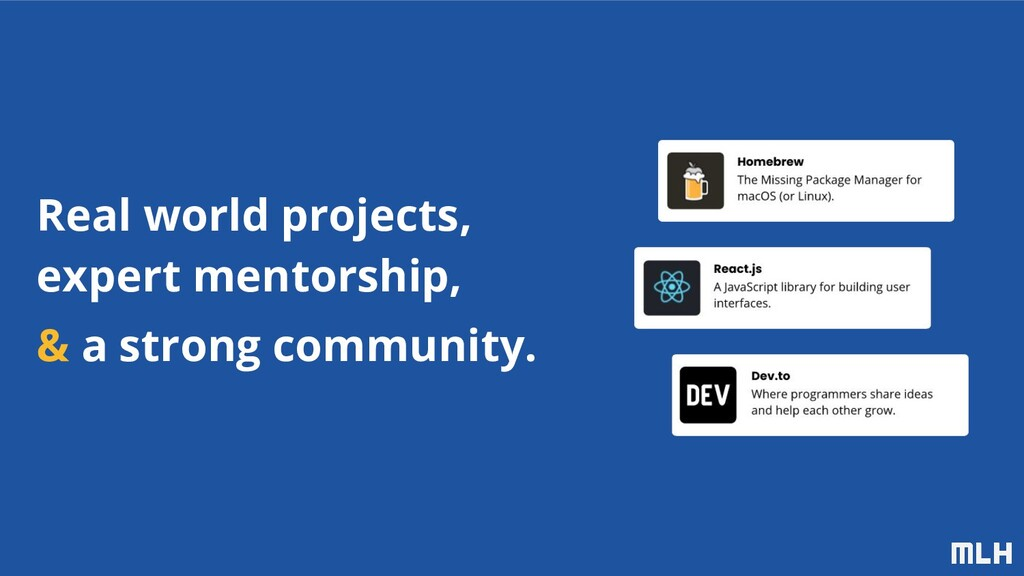 Real world projects, expert mentorship, & a str...