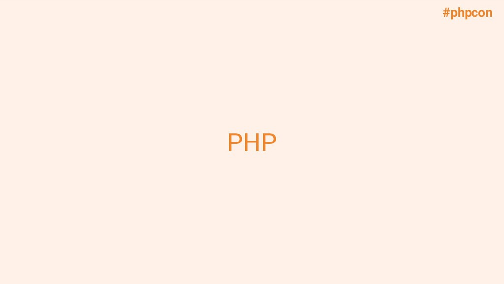 #phpcon PHP
