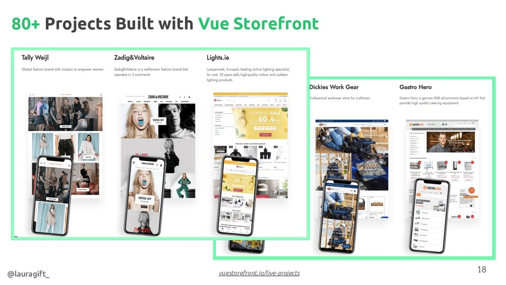 80+ Projects Built with Vue Storefront @lauragi...