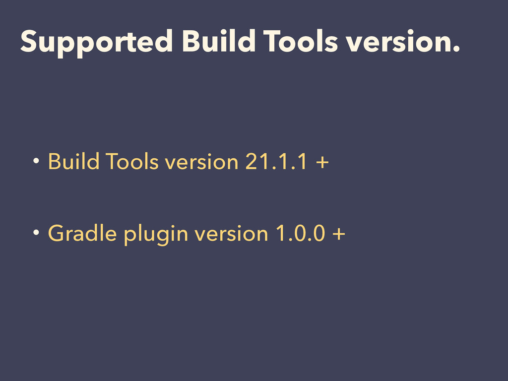 ɾBuild Tools version 21.1.1 + ! ɾGradle plugin ...