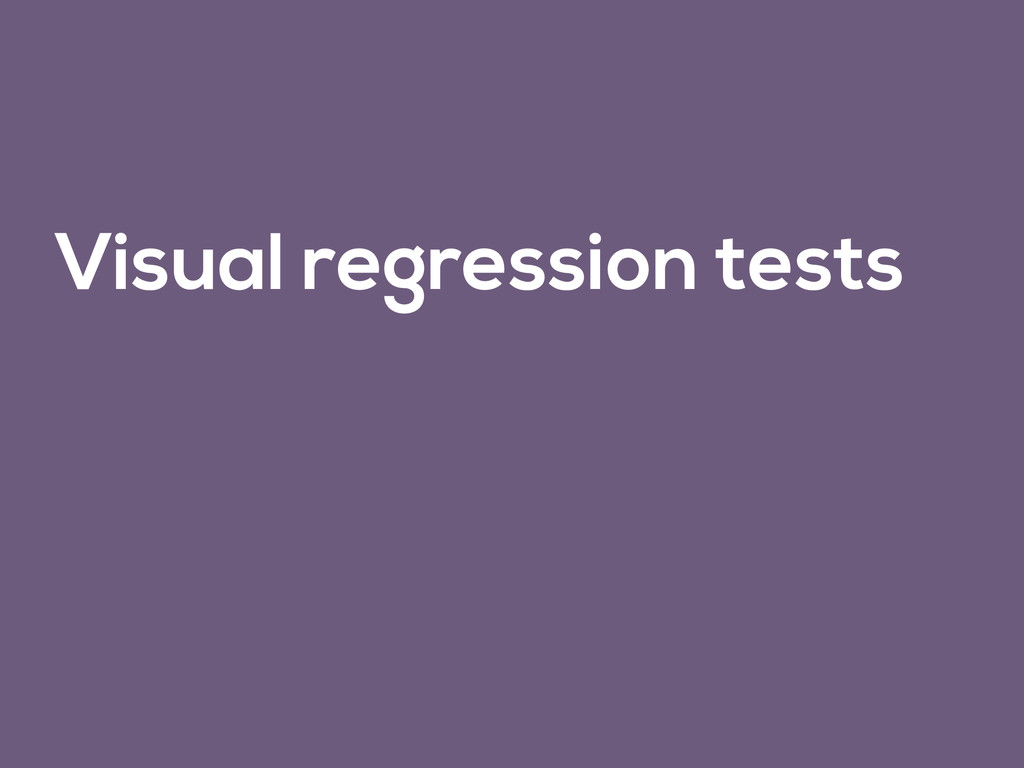 Visual regression tests