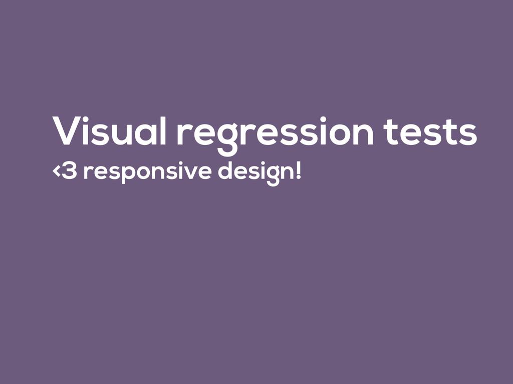 Visual regression tests <3 responsive design!