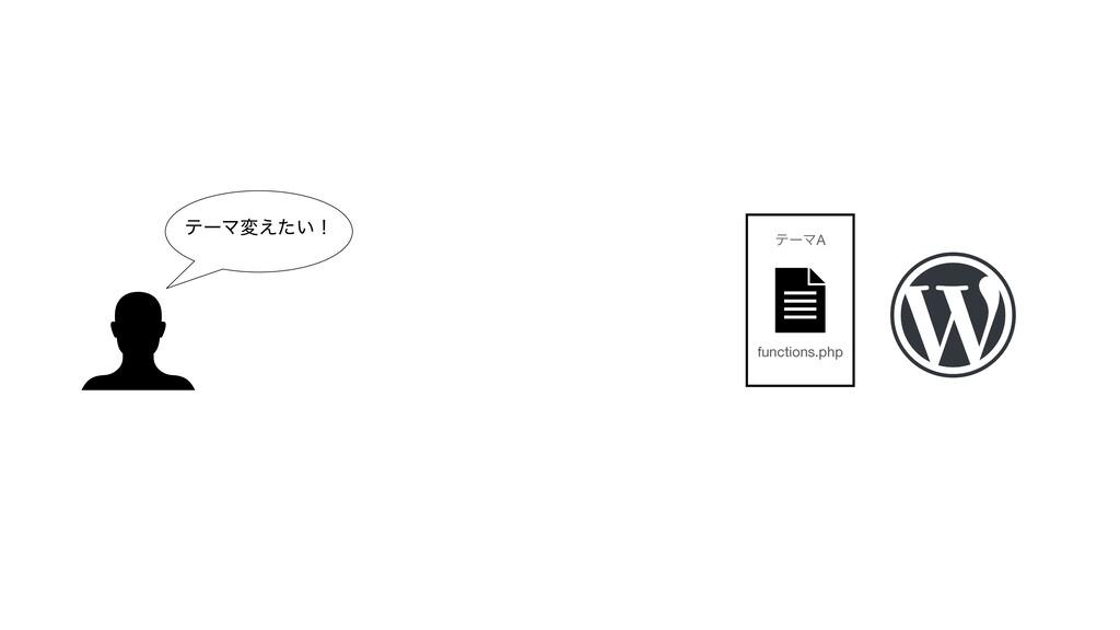 ςʔϚม͍͑ͨʂ functions.php ςʔϚA