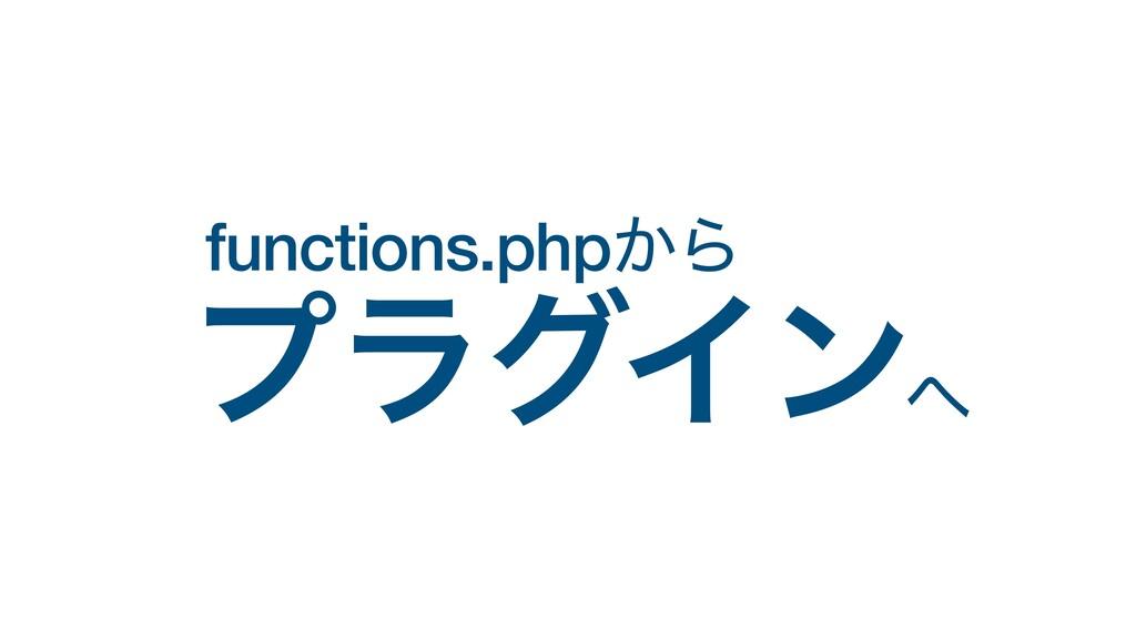 functions.php͔Β  ϓϥάΠϯ