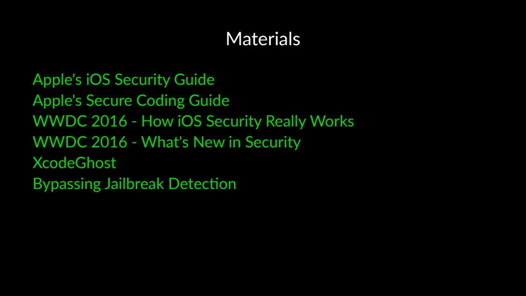 Materials Apple's iOS Security Guide Apple's Se...