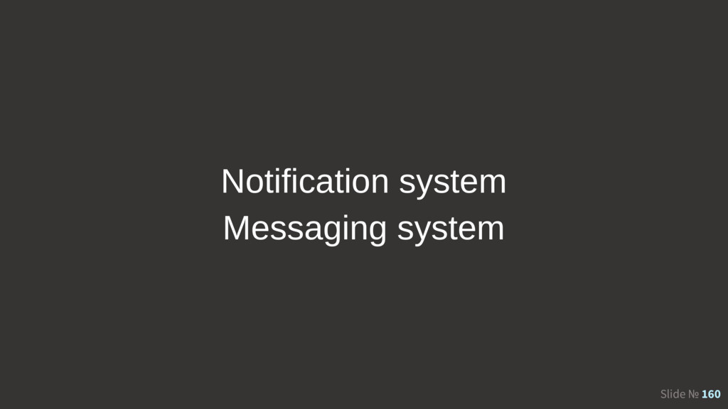 Slide № 160 Notification system Messaging system