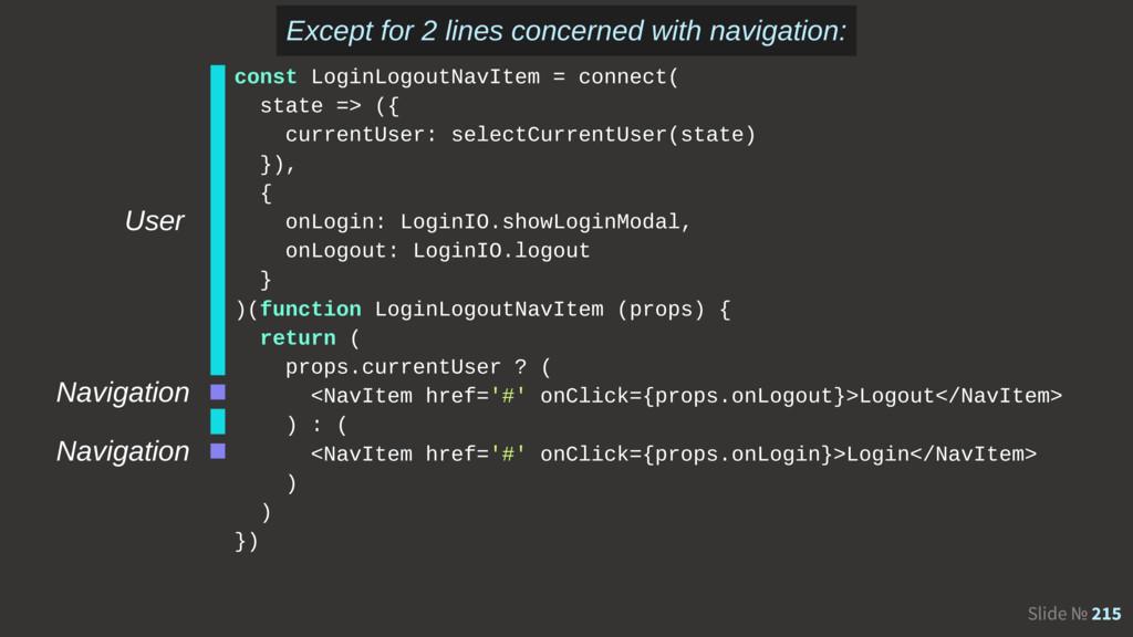 Slide № 215 User Navigation Navigation const Lo...
