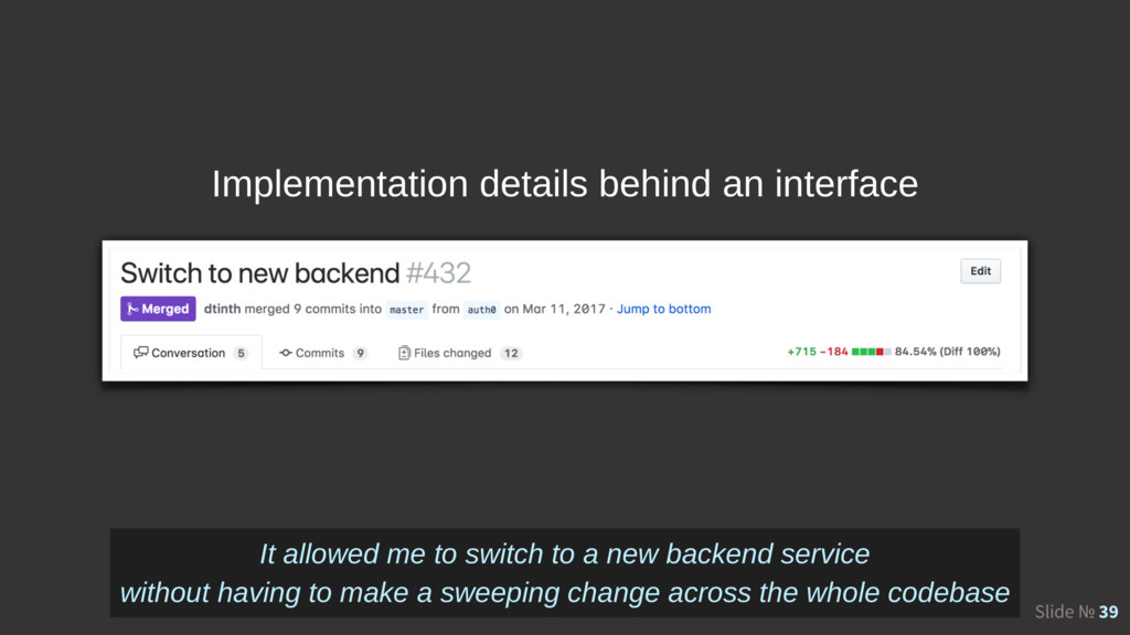 Slide № 39 Implementation details behind an int...