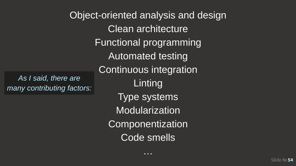 Slide № 54 Object-oriented analysis and design ...