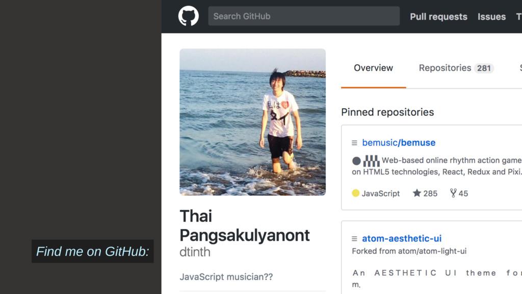 Slide № 8 Find me on GitHub: