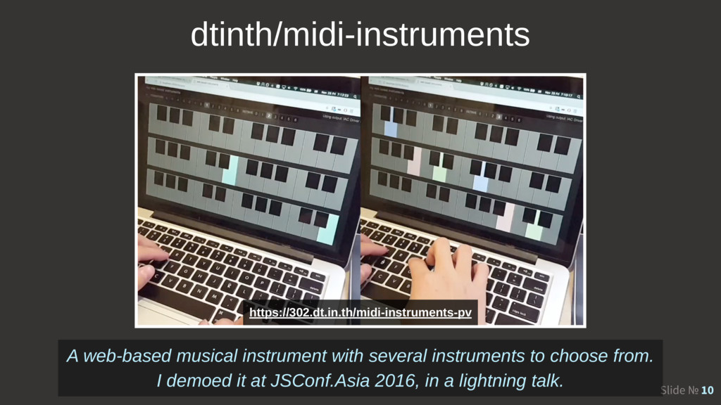 Slide № 10 A web-based musical instrument with ...
