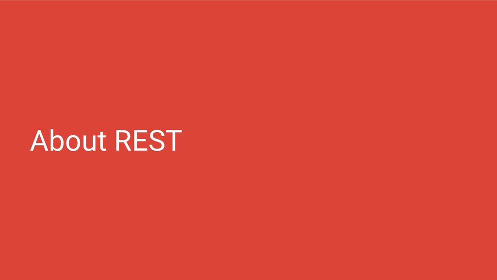 About REST