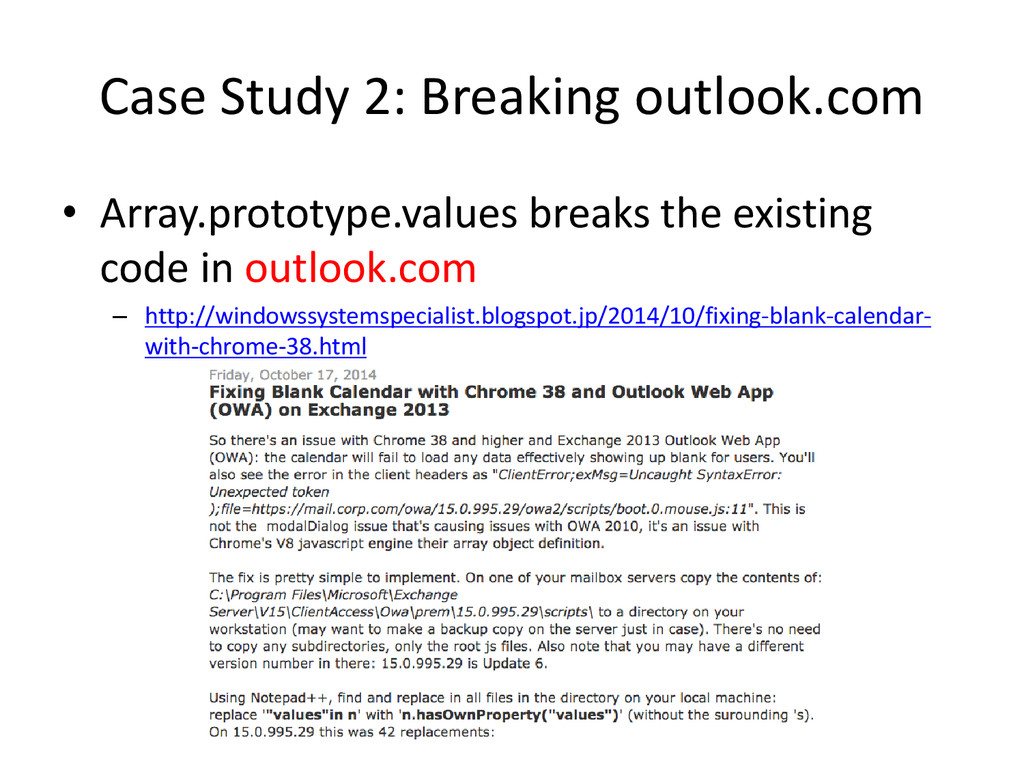Case Study 2: Breaking outlook.com • Array.prot...