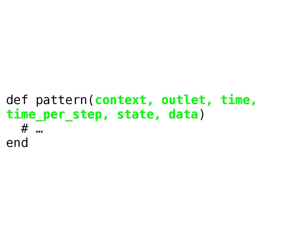 def pattern(context, outlet, time, time_per_ste...