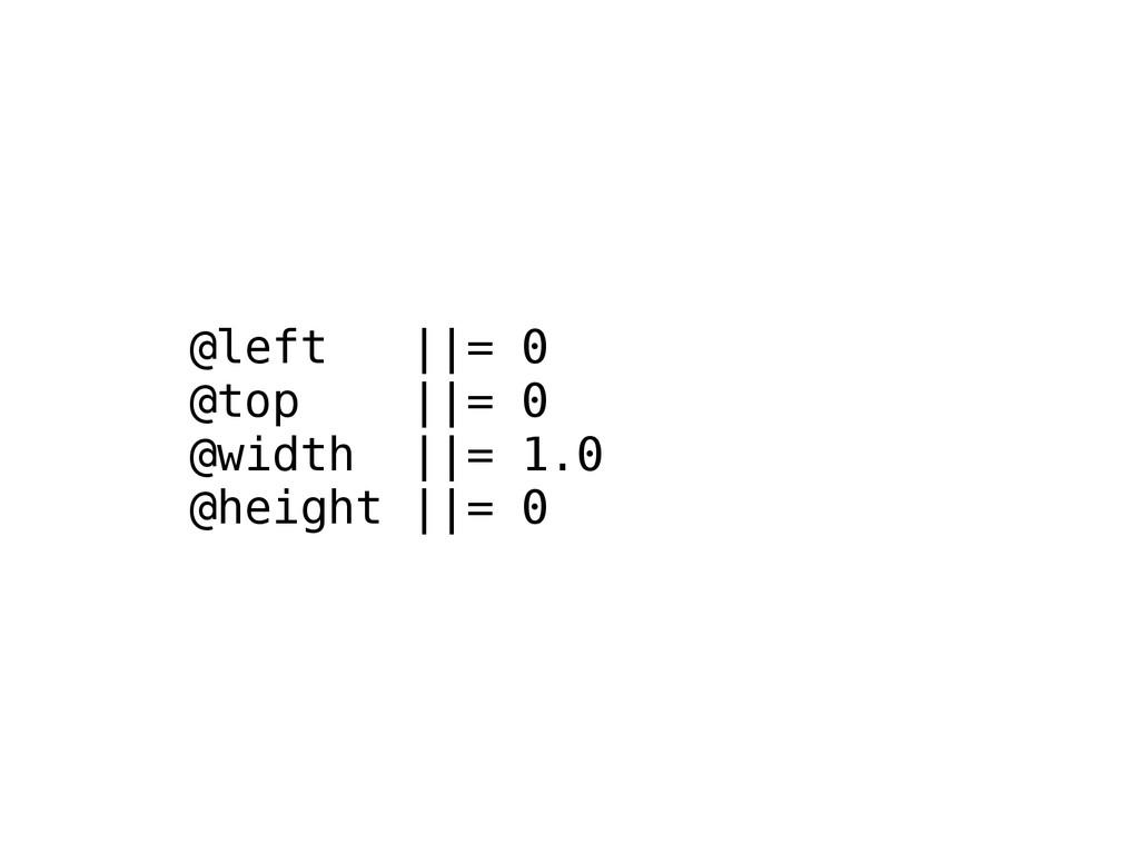 @left ||= 0 @top ||= 0 @width ||= 1.0 @height |...