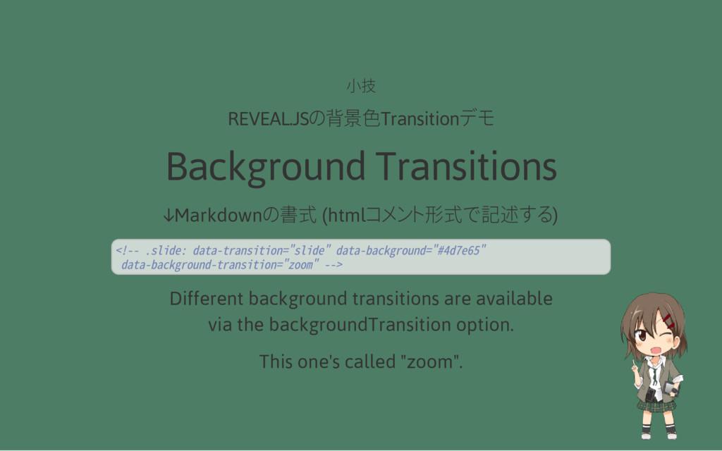 小技 REVEAL.JSの背景色Transitionデモ Background Transit...