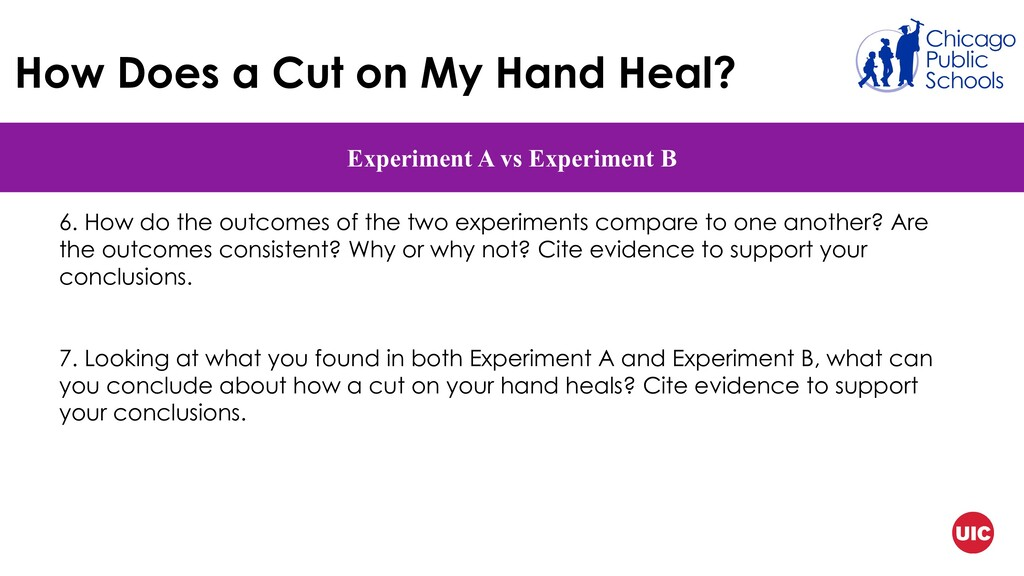 How Does a Cut on My Hand Heal? Experiment A vs...