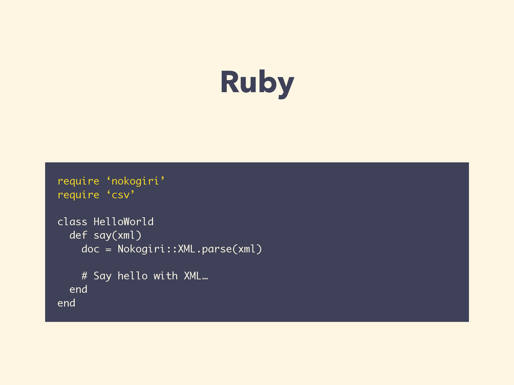 Ruby require 'nokogiri' require 'csv' ! class H...