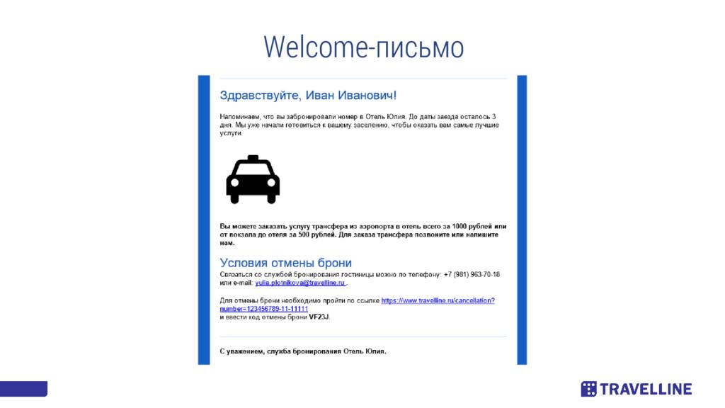 Welcome-письмо