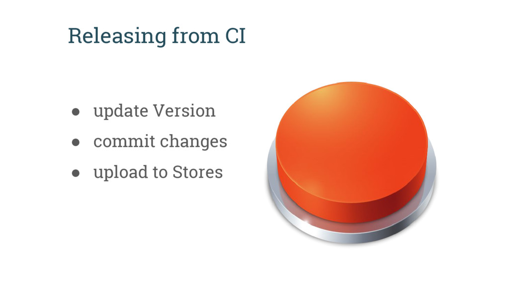 Releasing from CI ● update Version ● commit cha...