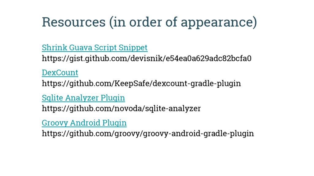 Resources (in order of appearance) Shrink Guava...