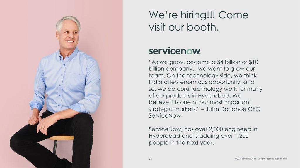 26 © 2018 ServiceNow, Inc. All Rights Reserved....
