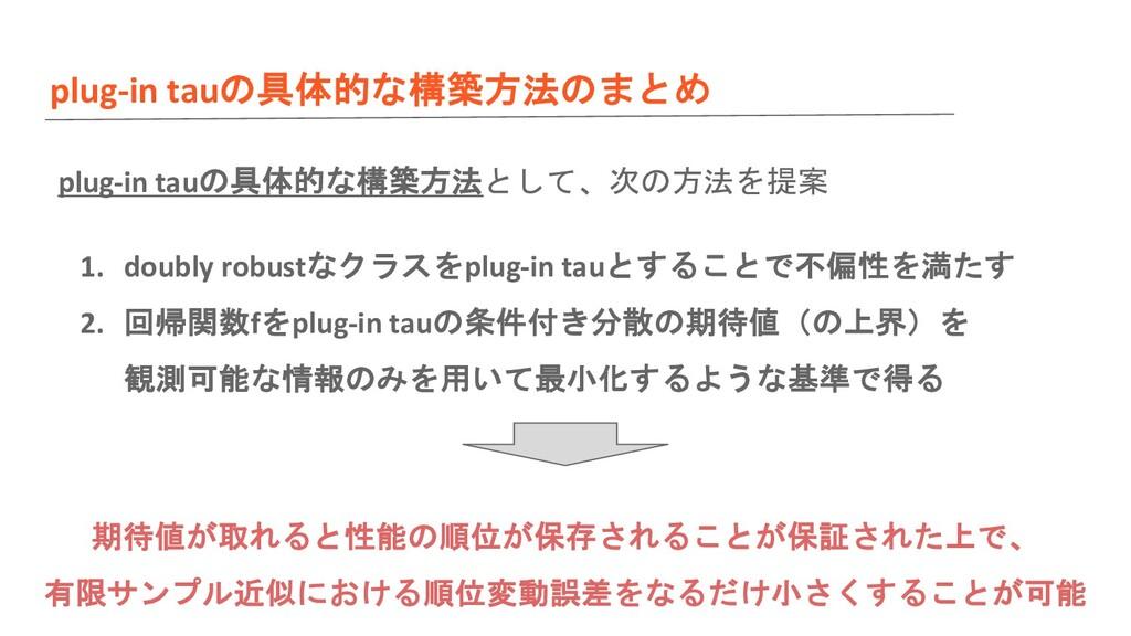 plug-in tauの具体的な構築方法のまとめ plug-in tauの具体的な構築方法とし...